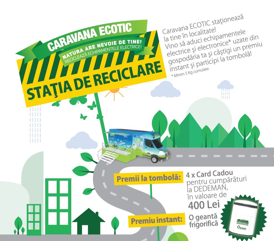 RECYCLING STATION - WASTE COLLECTION CAMPAIGN IN COUNTY. SIBIU, JULY - SEPTEMBER 2017
