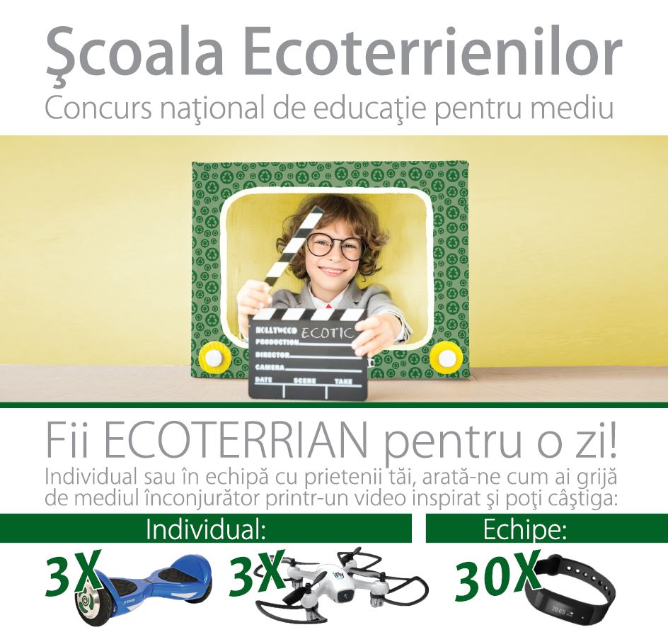 Ecoterrians' School 2017-2018 campaign dedicated to Romanian schools