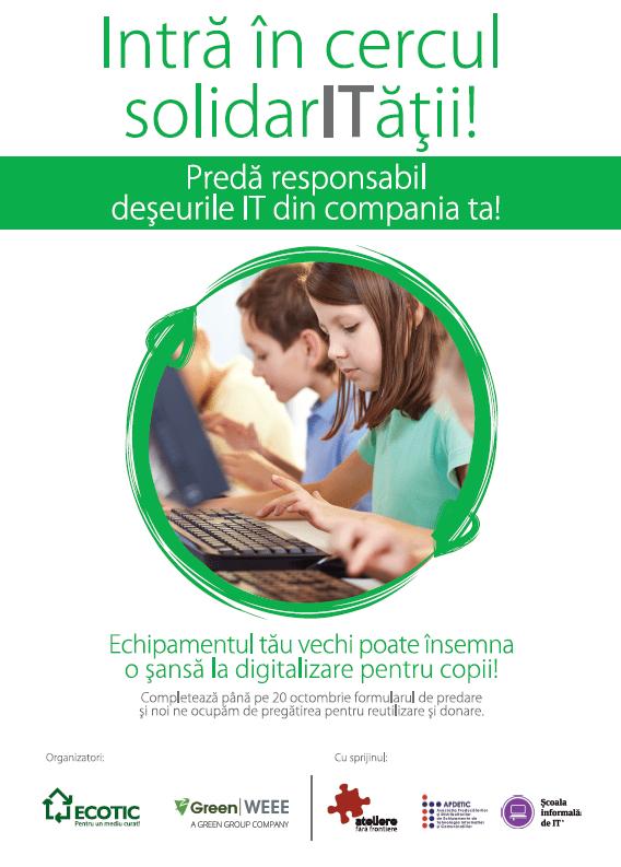 Intră în Cercul SolidarITății! CAMPANIE DE DONATIE ECHIPAMENTE IT 5 IUNIE– 20 OCTOMBRIE, 2020