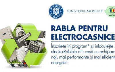 S-au introdus noi echipamente în lista Rabla pentru Electrocasnice 2020