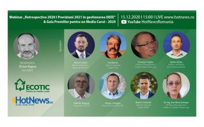 """COMUNICAT DE PRESĂ post webinar """"Retrospectiva 2020. Previziuni 2021 în gestionarea DEEE"""""""