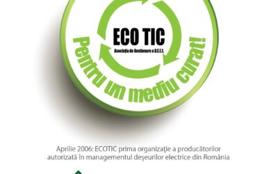 2006: ECOTIC is established, the first organization for the transfer of responsibilities of electrical and electronic equipment manufacturers in Romania