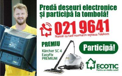 Ziua Mediului: colectează deșeuri electrice și ECOTIC te premiază!